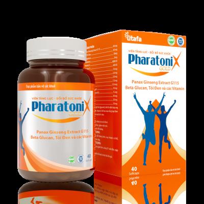 Viên tăng lực - bồi bổ sức khỏe PHARATONIX GOLD (Chai 40 viên)